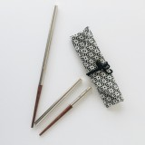 Onyx reusable chopsticks collapsible in cloth bag
