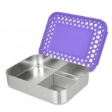 LunchBots Bento Box Trio Purple Dots