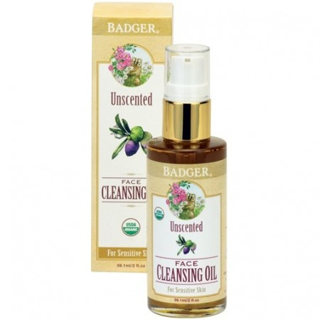Badger Unscented Face Cleansing Oil