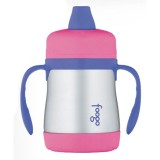 Thermos Foogo stainless steel sippy cup - pink