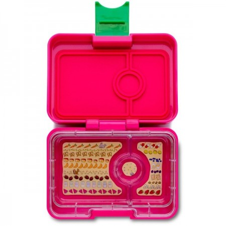 Yumbox MiniSnack - 3 compartment Cherie Pink