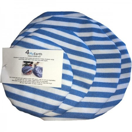4MyEarth Food Cover Set - Denim Stripe