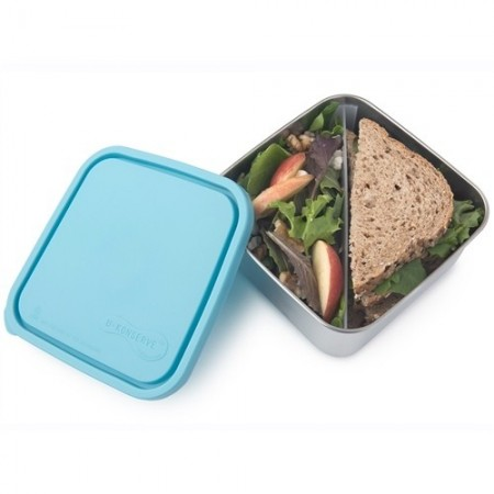 U Konserve Large To-Go Square Container with Divider - Sky