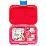 Yumbox bento lunch box - panino Aztec Red
