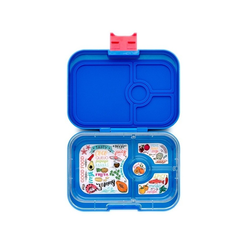 yumbox bento lunch box panino baja blue biome. Black Bedroom Furniture Sets. Home Design Ideas
