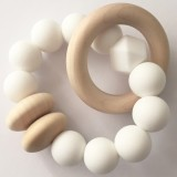 Tiny Teethers Beechwood Teether Ring - White