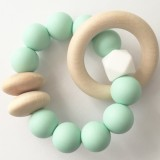 Tiny Teethers Beechwood Teether Ring - Mint