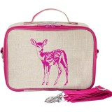 SoYoung Insulated Lunch Box Raw Linen - Pink Fawn