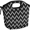 Fit & Fresh insulated lunch bag - newport black + white