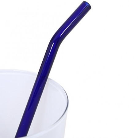 Strawesome Bent Glass Straw - Blue