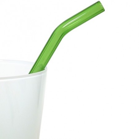 Strawesome Bent Glass Straw - Green