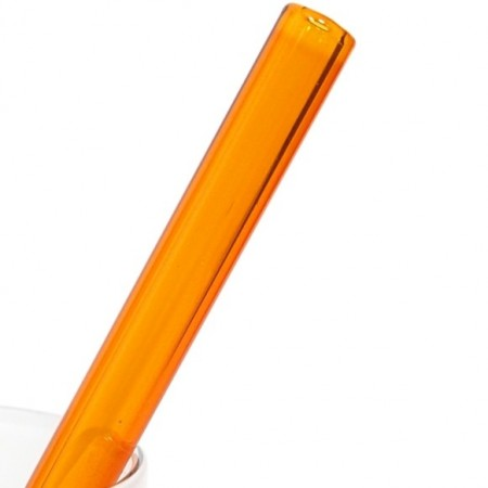 Strawesome Glass Smoothie Straw -  Amber