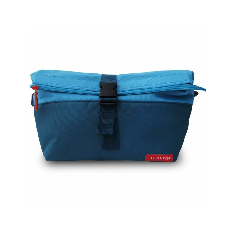 Goodbyn Insulated Rolltop Lunch Bag Blue Biome