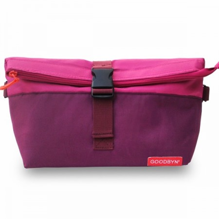 Goodbyn Insulated Rolltop Lunch Bag - Magenta