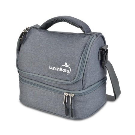 LunchBots Insulated Two Level Bag Grey