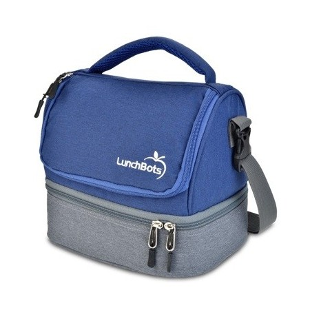 LunchBots Insulated Two Level Bag Blue
