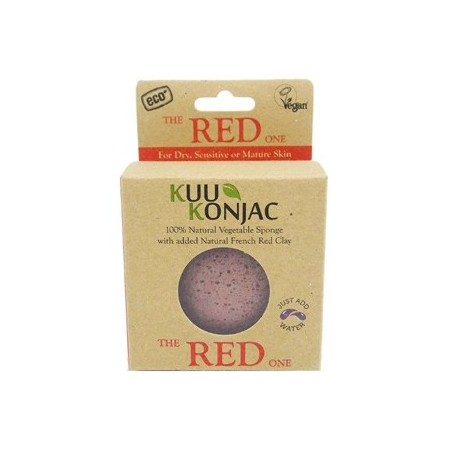 KUU konjac sponge - french red clay for dry skin