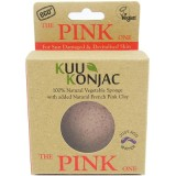 KUU Konjac sponge - pink clay for tired, devitalised & sun exposed skin