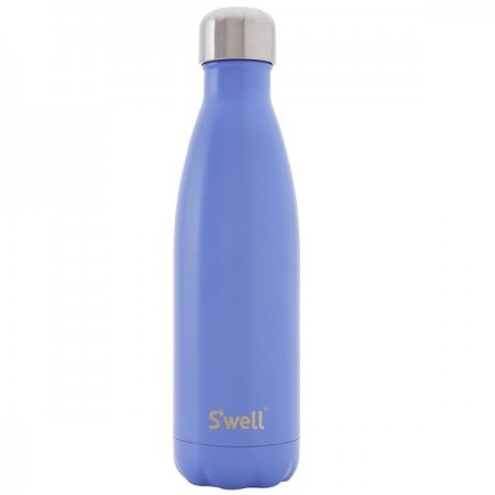 S'Well Insulated Stainless Steel Bottle 750ml - Monaco Blue (silver lid)