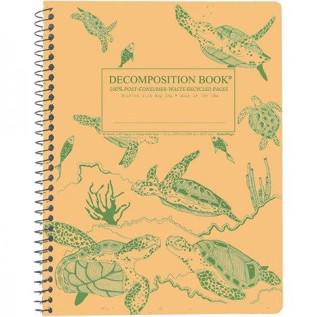Decomposition Spiral Notebook - Green Sea Turtles