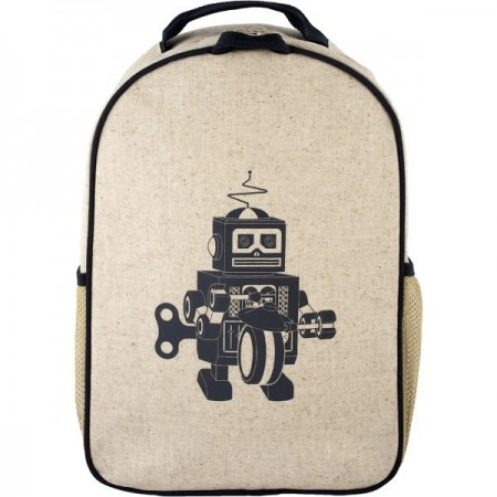 SoYoung Uncoated Toddler Backpack - Grey Robot
