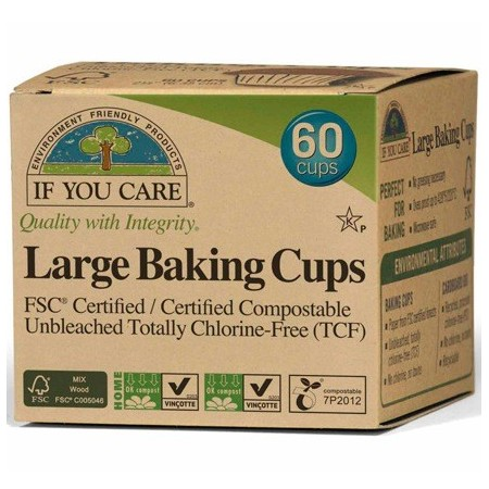 If You Care baking cups LARGE (60) unbleached chlorine free