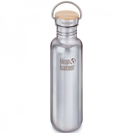 Klean Kanteen classic 27oz 800ml Stainless Steel Water Bottle - bamboo reflect mirror