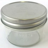 Glass Jar with Smooth Gold lid 120ml