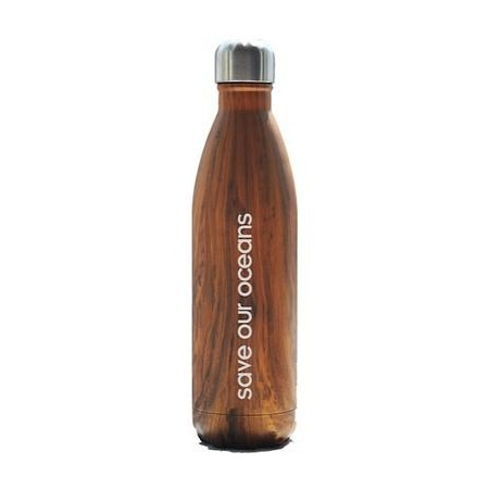 BBBYO Stainless Steel Water Bottle 750ml - Woodgrain