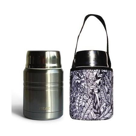 BBBYO 500ml Foodie + Cover - Feather
