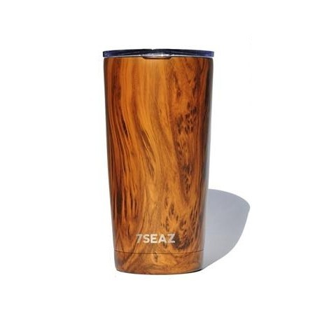 BBBYO 600ml Stainless Steel Cup - Woodgrain