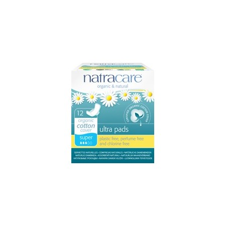 Natracare natural ultra pads (super with wings)