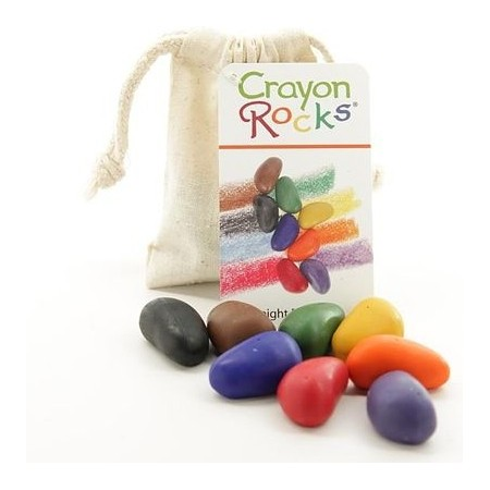 Crayon Rocks Muslin Bag - 8 Colours