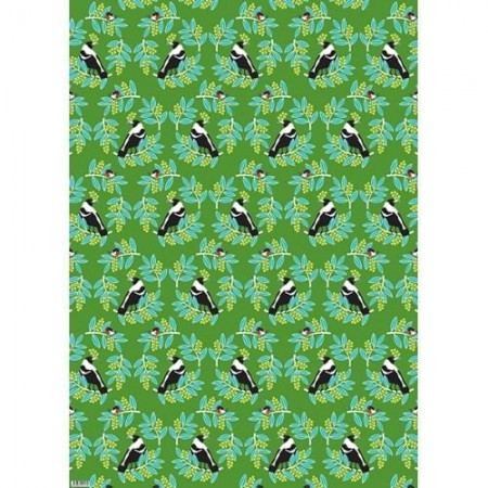 Earth Greetings Christmas Wrapping Paper - Wattle Friends