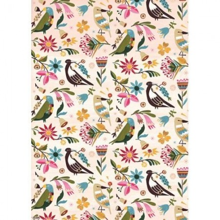 Earth Greetings Wrap - Birds & Blossoms