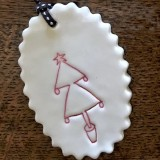 Kylie Johnson Mok Ceramic Christmas Ornament - Tree