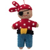 Fairtrade Felt Christmas Decoration - Pirate