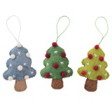 Fairtrade Felt Christmas Decorations - Tree with Baubles (1)