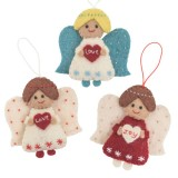 Fairtrade Felt Christmas Decorations - Angel with Affirmation (1)