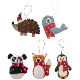 Fairtrade Felt Christmas Decorations - Animals (1)