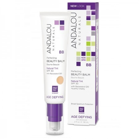 Andalou Naturals Age Defying Perfecting BB Beauty Balm for Dry Skin SPF30