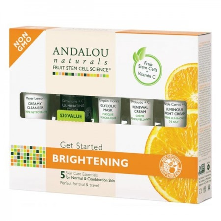 Andalou Naturals Brightening Normal Skin Trial & Travel Pack