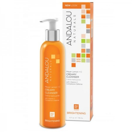 Andalou Naturals Brightening Creamy Cleanser for Normal Skin