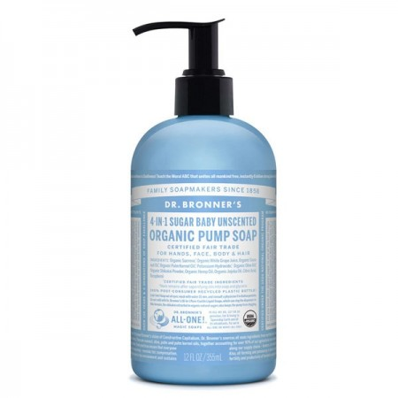 Dr. Bronner's Organic Pump Soap 355ml - Baby Unscented