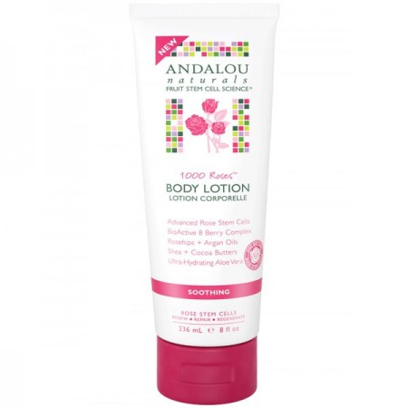 Andalou Naturals Body Lotion - Soothing 1000 Roses