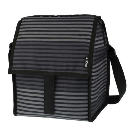 PackIt Freezable Deluxe Bag - Gray Stripe