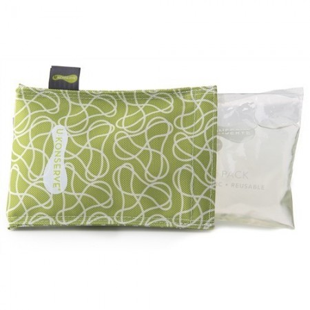 Kids Konserve ice pack & cover - green