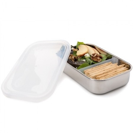 U konserve stainless steel container 975ml - rectangle with divider