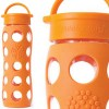 Glass water bottles - 650ml Lifefactory (orange)