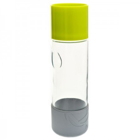 580ml Day Tripper glass water bottle - lime green by Full Circle